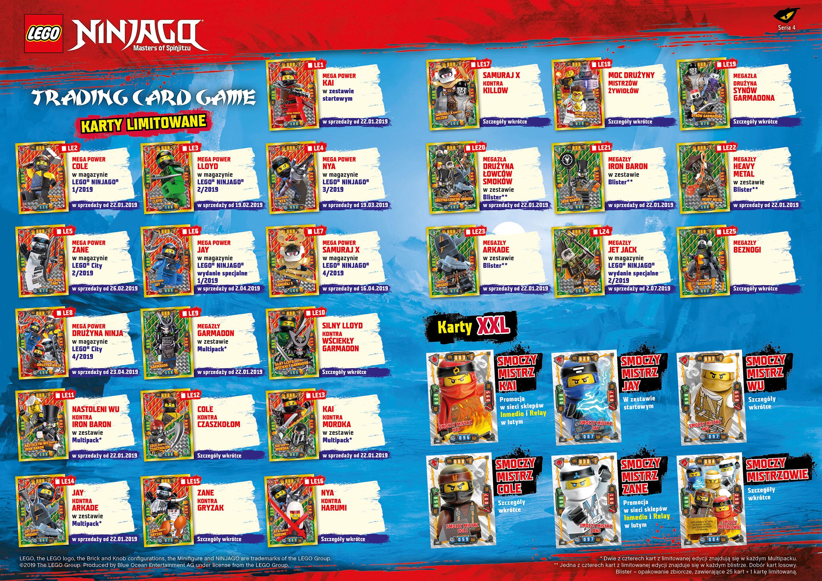 Cudowna LEGO® NINJAGO®. TCG 4 | Blue Ocean Entertainment Polska JR09
